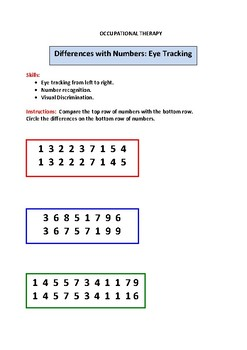 Differences with Numbers (Eye Tracking)