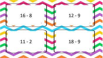 Differences with numbers to 20 with regrouping