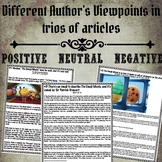 Different Author's Viewpoints in trios of articles