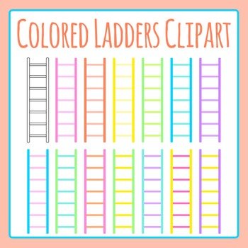 Different Colored Ladders Clip Art Set for Commercial Use