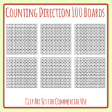 Different Direction Counting Hundreds Boards - Left to Right, Up and Down Etc