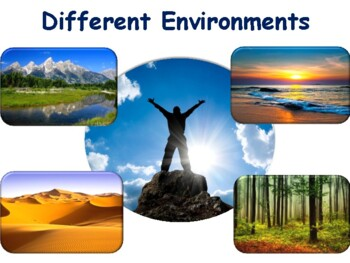 Different Environments Lesson & Flashcards task cards study guide 2017 2018