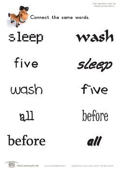 Different Font Word Match (2nd Grade)