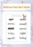 Different Font Word Match (3rd Grade)