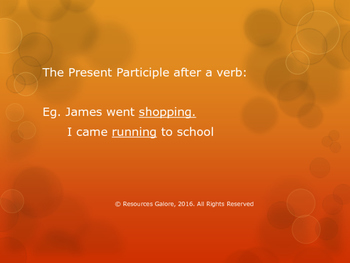 Different Forms of Present Participle