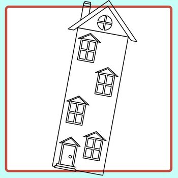 Different Height Houses for Comparing / Measuring Exercises Clip Art Commercial