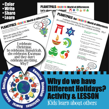 Holidays Around the World Religious & Cultural Differences Activity Lesson