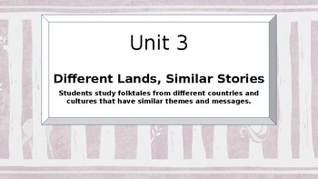 Different Lands Similar Stories- Engage NY Read Alouds- First Grade-Domain 3