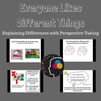 Different Likes; Perspective Taking; Flexible Thinking;  D