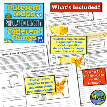 Different Maps for Different Things: A Population Density Mini-Unit! Engaging!