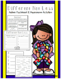 Different Not Less - An Autism Awareness Activity Set