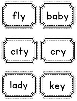 Vowel Sounds Practice Game Sounds of Y, First, Second GRade