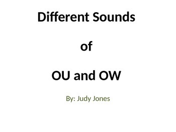 """Different Sounds of """"ou"""" and """"ow"""""""