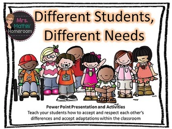 Different Students, Different Needs - Teach About Student Adaptations