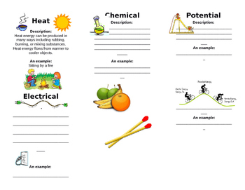 Different Types of Energy Booklet