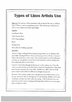 Different Types of Lines Artists Use