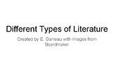 Different Types of Literature - Fiction and Non-Fiction