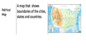 Different Types of Maps Lesson POWERPOINT!!