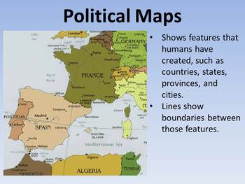 Different Types of Maps PowerPoint & Worksheet by Katie ...
