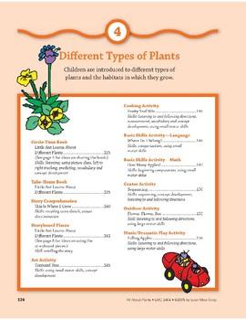 Different Types of Plants: Outdoor/Indoor Play Activities
