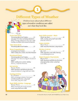 Different Types of Weather: Outdoor and Dramatic Play Activities