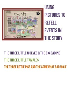 Different Versions of The Three Little Pigs Folktale Sequencing Events