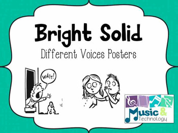 Different Voices Posters- Bright Solid