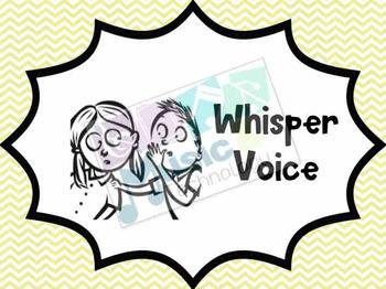 Different Voices Posters- Pastel Chevron Background