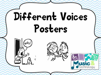 Different Voices Posters- Pastel Chevron Background
