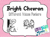 Different Voices Posters- Bright Chevron Background