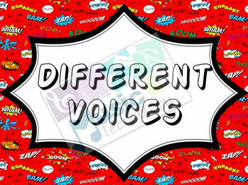 Different Voices Posters- Superhero Theme