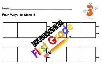 Different Ways to Make 5, 4, 3 & 2
