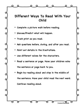 Different Ways to Read with Your Child