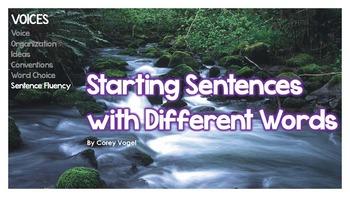 Different Ways to Start Sentences
