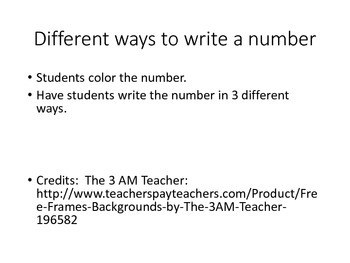 Different Ways to Write a Number