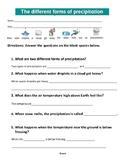 Different forms of precipitation Level 3