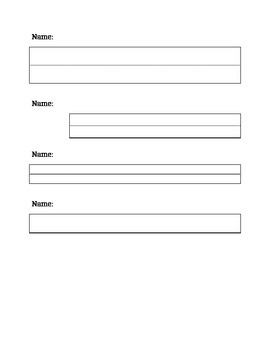 Different sized name writing lines for creating documents or