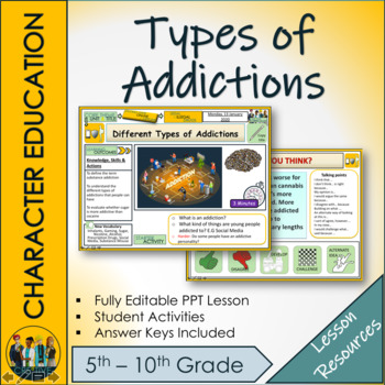 Different types of Addictions - Drugs Education Lesson
