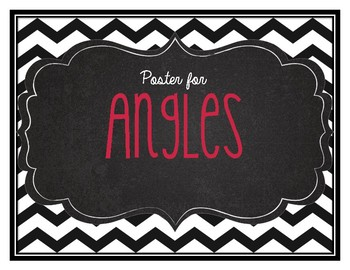 Different types of Angles Chevron Poster