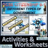 Different types of Governments Student Work Booklet & Activities