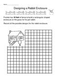 Different ways to find the same perimeter (rabbit enclosure)