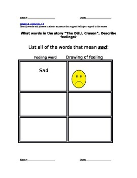 Different words for sad