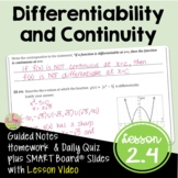 Differentiability and Continuity (Calculus - Unit 2)