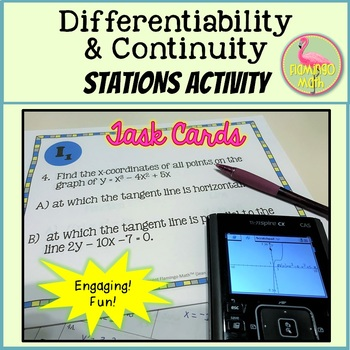 Calculus: Differentiability and Continuity Stations Activity