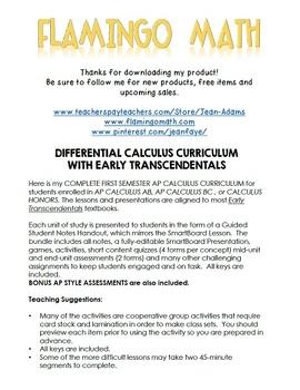 AP Calculus AB Differential Calculus Bundle