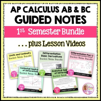 Differential Calculus Guided Notes Bundle