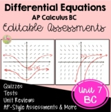 Differential Equations Assessments (BC Version - Unit 7)