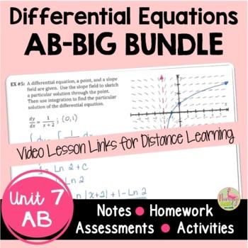 Calculus Differential Equations BIG Bundle (Unit 7)