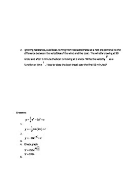 Differential Equations Test