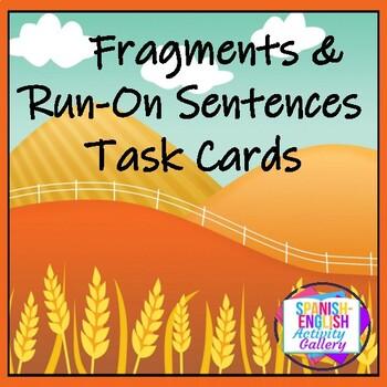 Fragments & Run-On Sentences Task Cards